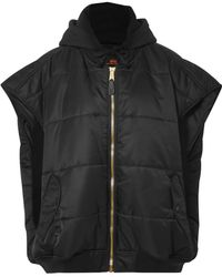 Vetements - Oversized Hooded Quilted Shell And Jersey Gilet - Lyst