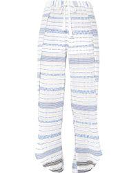 lemlem - Tiki Fly Away Embroidered Cotton-blend Gauze Pants - Lyst