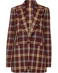 Burberry - Checked Wool Blazer - Lyst