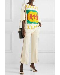 Gucci Oversized-t-shirt Aus Baumwoll-jersey Mit Print - Gelb