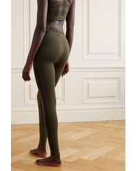 Nagnata + Net Sustain Laya Striped Merino Wool-blend Leggings - Green