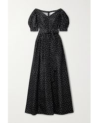Carolina Herrera Off-the-shoulder Polka-dot Silk-taffeta Gown - Black