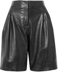 16Arlington Grant Shorts Aus Leder - Schwarz