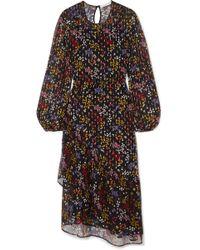 See By Chloé - Floral-print Fil Coupé Silk-georgette Midi Dress - Lyst