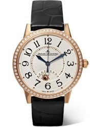 Jaeger-lecoultre - Rendez-vous Night & Day 34mm Rose Gold, Alligator And Diamond Watch - Lyst