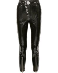 Alexander Wang - Glossed-leather Skinny Trousers - Lyst