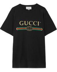 Gucci - Übergroßer T-Shirt mit Logo - Lyst