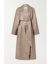 The Row Au Leather Coat - Natural