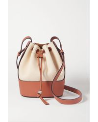 Loewe - Balloon Leather And Canvas Shoulder Bag - Lyst