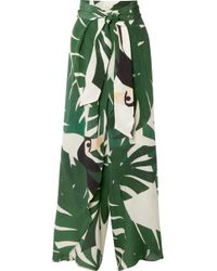Adriana Degreas - Geometric Foliage Pareo Pants - Lyst