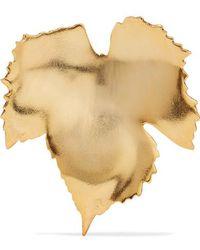 Oscar de la Renta - Grape Leaf Gold-tone Brooch - Lyst
