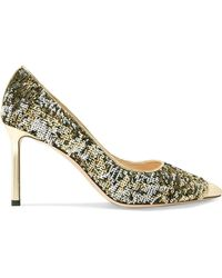 Jimmy Choo - Romy Sequined Leather Pumps - Lyst