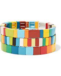 Roxanne Assoulin - Rainbow Brite Set Aus Drei Armbändern Aus Emaille - Lyst