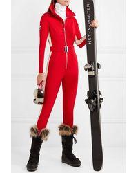 CORDOVA Stretch-skianzug Mit Streifen - Rot