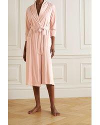 Skin + Net Sustain Carina Organic Pima Cotton-jersey Robe - Pink