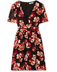 Madewell - Floral-print Chiffon Mini Dress - Lyst