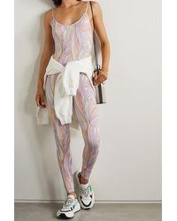 Emilio Pucci + Net Sustain Gymnastikanzug Aus Recyceltem Stretch-material Mit Print - Lila