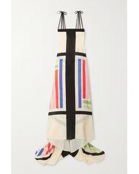 Louisa Parris + Net Sustain Cannes Draped Printed Silk Crepe De Chine Maxi Dress - Multicolour