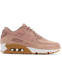 Nike - Air Max 90 Suede-trimmed Leather Sneakers - Lyst