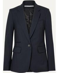 Veronica Beard Classic Stretch-wool Crepe Blazer - Blue