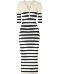 Altuzarra - Sunday Striped Ribbed Stretch-knit Midi Dress - Lyst