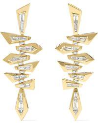 Stephen Webster - Shattered 18-karat Gold Diamond Earrings - Lyst