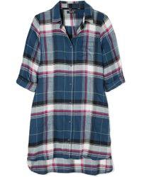 DKNY - Flannel Boyfriend Pyjama Shirt - Lyst