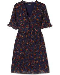 Madewell - Fresia Ruffled Printed Chiffon Dress - Lyst