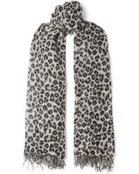 Chan Luu - Fringed Leopard-print Cashmere And Silk-blend Scarf - Lyst