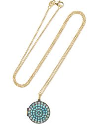 Andrea Fohrman - 18-karat Gold, Turquoise And Opal Necklace - Lyst