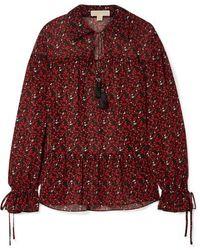 MICHAEL Michael Kors Printed Georgette Blouse - Red