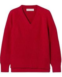 MICHAEL Michael Kors Ribbed-knit Sweater - Red