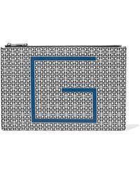 Givenchy - Logo Print Clutch Bag - Lyst