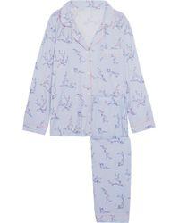Eberjey - Floral-print Jersey Pajama Set - Lyst