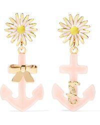 Miu Miu - Gold-tone, Plexiglas® And Enamel Clip Earrings - Lyst