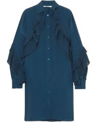 Givenchy - Ruffled Silk Crepe De Chine Tunic - Lyst