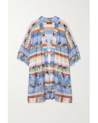 Missoni Mare Crochet-knit Robe - Blue