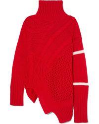 Preen Line - Serenity Asymmetric Paneled Knitted Turtleneck Sweater - Lyst