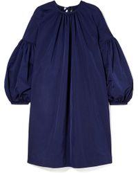 CALVIN KLEIN 205W39NYC Gathered Taffeta Mini Dress Navy - Blue