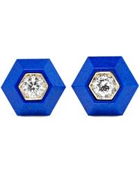 Fred Leighton - Collection 18-karat White Gold, Lapis Lazuli And Diamond Earrings Gold One Size - Lyst