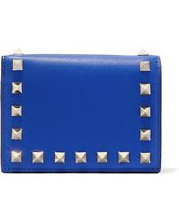 Valentino - Garavani The Rockstud Leather Wallet - Lyst