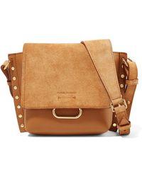 Isabel Marant - Kleny Embellished Leather And Suede Shoulder Bag - Lyst