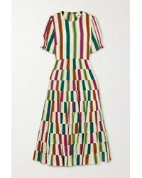 Diane von Furstenberg Zadie Voile-blend Maxi Dress - Orange
