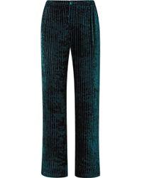 F.R.S For Restless Sleepers - Etere Quilted Velvet Straight-leg Trousers - Lyst