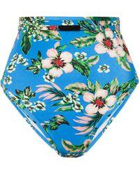 Diane von Furstenberg - Floral-print High-waisted Bikini Brief - Lyst