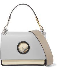 Fendi - Kan I Color-block Leather Shoulder Bag - Lyst c52d73dde385b