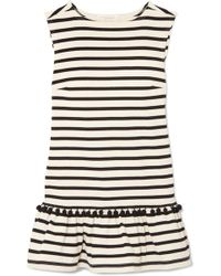 Marc Jacobs - Pompom-embellished Striped Cotton-jersey Mini Dress - Lyst