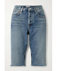 Agolde Carrie Denim Shorts - Blue