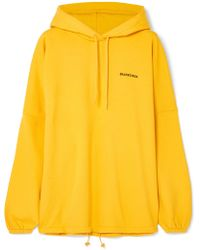 Balenciaga - Oversized Embroidered Cotton-blend Jersey Hoodie - Lyst