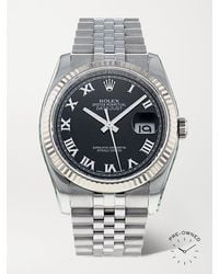 Rolex Pre-owned 2015 Datejust Automatic 36mm Stainless Steel And White Gold Watch - Metallic